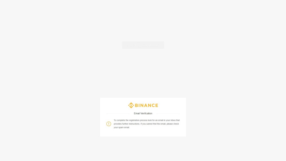 How to Trade Bitcoin on Binance - Email Confirmation